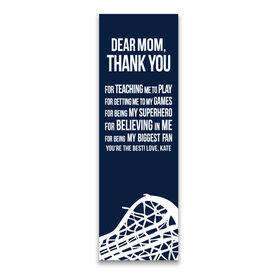 "Girls Lacrosse 12.5"" X 4"" Removable Wall Tile - Dear Mom (Vertical)"
