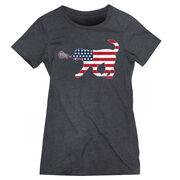 Girls Lacrosse Women's Everyday Tee - Patriotic LuLa the Lax Dog