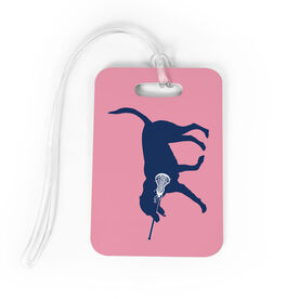 Girls Lacrosse Bag/Luggage Tag - LuLa the Lax Dog