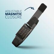 Adjustable Stainless Steel Magnetic Bracelet - Never Never Give Up