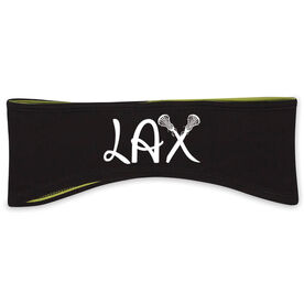 Lacrosse Reversible Performance Headband Lax Crossed Stick Girl