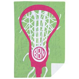 Girls Lacrosse Premium Blanket - Monogrammed Lax Is Life