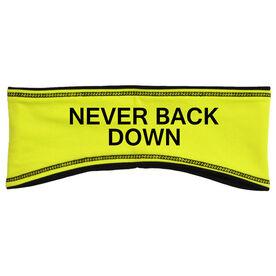 Running Reversible Performance Headband Never Back Down