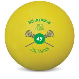 Personalized Awards Lacrosse Ball (Yellow Ball)