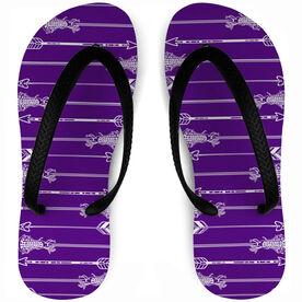 b98fd99c55c6c8 Girls Lacrosse Flip Flops Arrows