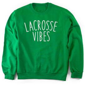 Girls Lacrosse Crew Neck Sweatshirt - Lacrosse Vibes