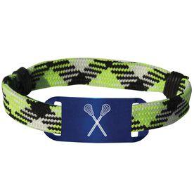 Lacrosse Shooting String Bracelet Crossed Sticks Adjustable Shooter Bracelet