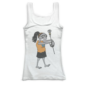Girls Lacrosse Vintage Fitted Tank Top - Lacrosse Zombie