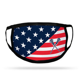 Girls Lacrosse Adult Face Mask - USA Flag