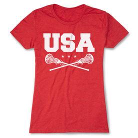 Girls Lacrosse Women's Everyday Tee - USA Girls Lacrosse