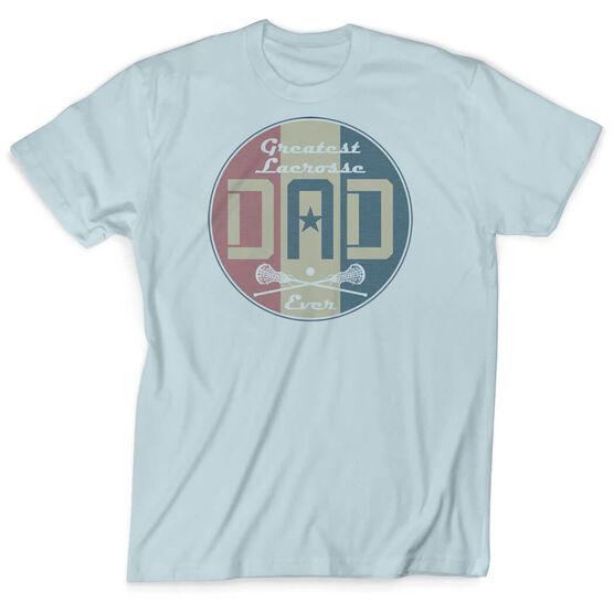 Girls Lacrosse Vintage T-Shirt - Greatest Dad Stripes