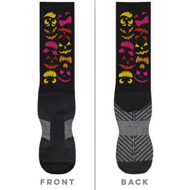 General Sports Printed Mid-Calf Socks - Spooky Pumpkins