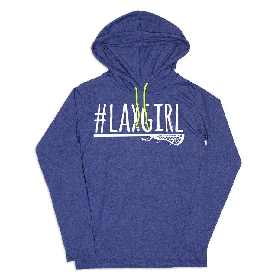 Girls Lacrosse Lightweight Hoodie - #LAXGIRL