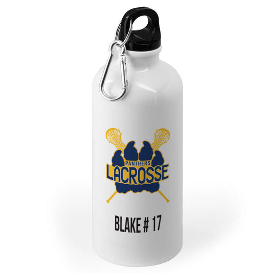 Girls Lacrosse 20 oz. Stainless Steel Water Bottle - Custom Logo