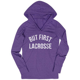 Lacrosse Lightweight Performance Hoodie - But First Lacrosse