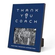 Girls Lacrosse Photo Frame - Thank You Coach
