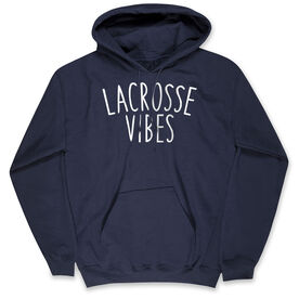 Girls Lacrosse Hooded Sweatshirt - Lacrosse Vibes