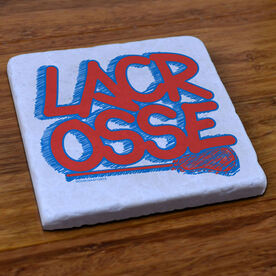 Lacrosse Natural Stone Coaster Fresh Lacrosse