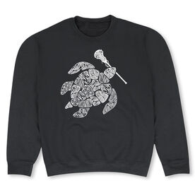 Girls Lacrosse Crew Neck Sweatshirt - Lax Turtle