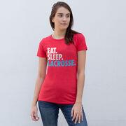 Girls Lacrosse Women's Everyday Tee - Eat. Sleep. Lacrosse.