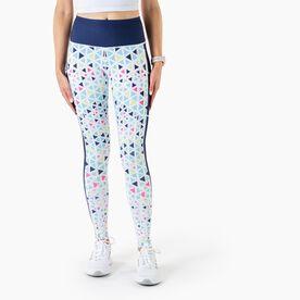 Women's Performance Side Pocket Tights - Kaleidoscope