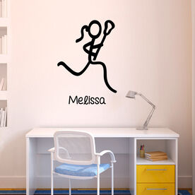 Lacrosse Removable ChalkTalkGraphix Wall Decal Lacrosse Girl Stick Figure