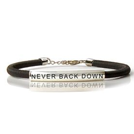 Sterling Silver SportEXPRESSION Never Back Down Tube Bracelet
