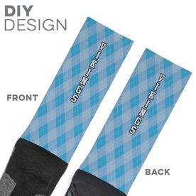 Printed Mid-Calf Socks - Team Socks Argyle Team