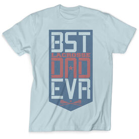 Girls Lacrosse Vintage T-Shirt - Best Dad Ever Shield
