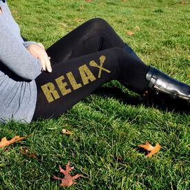 Girls Lacrosse High Print Leggings Relax