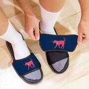 Girls Lacrosse Repwell® Slide Sandals - Lula the Lax Dog