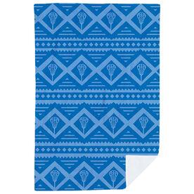 Lacrosse Premium Blanket - Geometric Lax Pattern