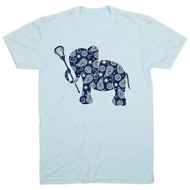 Girls Lacrosse Tshirt Short Sleeve Lax Elephant