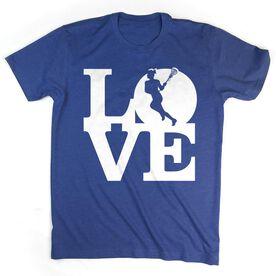 Girls Lacrosse T-Shirt Short Sleeve Love Lacrosse Girl