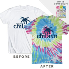 DIY Girls Lacrosse Chillax'n - White Tee Ready for Tie-Dye