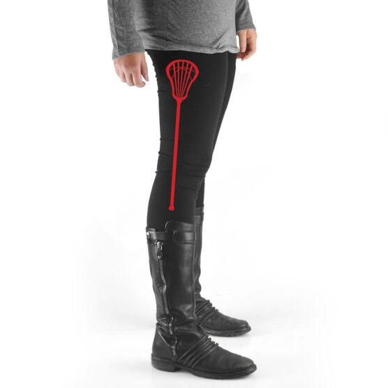 Lacrosse High Print Leggings Lacrosse Stick