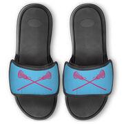 Girls Lacrosse Repwell® Slide Sandals - Crossed Sticks