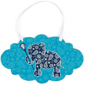 Girls Lacrosse Cloud Sign - Lax Elephant