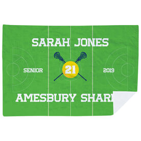 Girls Lacrosse Premium Blanket - Personalized Lacrosse Senior