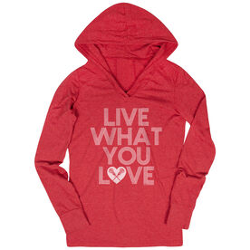Women's Lacrosse Lightweight Performance Hoodie Live What You Love