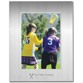 Engraved Lacrosse Frame Silver 5 x 7 with Lacrosse Icon