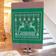 Lacrosse Premium Blanket - Lacrosse Christmas Knit