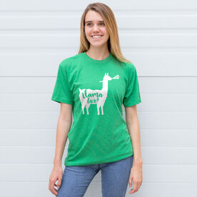Girls Lacrosse Short Sleeve T-Shirt - Llama Lax
