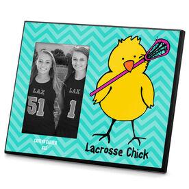 Lacrosse Personalized Photo Frame Lacrosse Chick Chevron