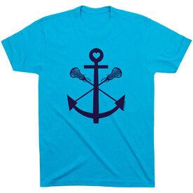 Lacrosse T-Shirt Short Sleeve Lacrosse Sticks Anchor