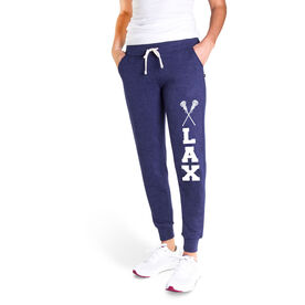 Girls Lacrosse Women's Joggers - Lax with Crossed Sticks