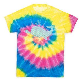 Girls Lacrosse Short Sleeve T-Shirt - LAX Whale Chevron Tie Dye