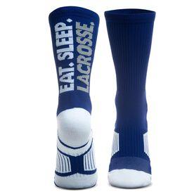 Lacrosse Woven Mid-Calf Socks - Eat. Sleep. Lacrosse