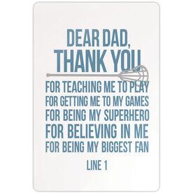 "Lacrosse Aluminum Room Sign (18""x12"") Personalized Dear Dad Lacrosse"