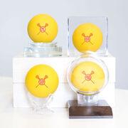 Girls Lacrosse Ball - Monogram with Crossed Sticks